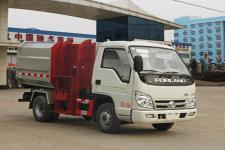 镇海区垃圾车在那里买福田4方自装卸式挂桶垃圾车价格
