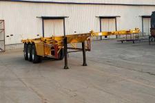 粱鋒12.4米33.8噸3軸危險品罐箱骨架運輸半掛車(LYL9400TWY)
