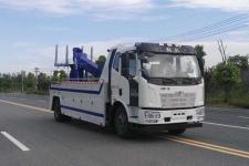 国五解放J6拖吊联体清障车