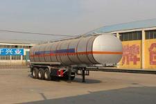 通亚达10.4米30.3吨3轴易燃液体罐式运输半挂车(CTY9401GRY36)