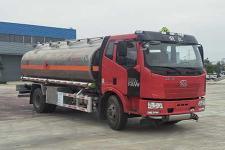 解放J6铝合金15-18吨运油车多少钱|油罐车厂家直销|铝合金运油车价格