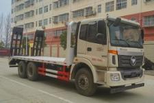 欧曼后八轮平板挖机运输车低平板运输车厂家