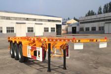 同强12.2米34.5吨3轴危险品罐箱骨架运输半挂车(LJL9400TWY)