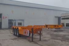 梁昇12.5米34吨3轴危险品罐箱骨架运输半挂车(SHS9400TWYE)