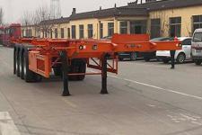 恒通梁山12.2米34.3吨3轴集装箱运输半挂车(CBZ9400TJZ40)