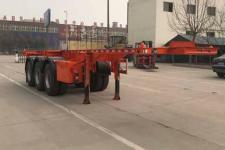 恒通梁山9.7米34.5吨3轴危险品罐箱骨架运输半挂车(CBZ9400TWY)