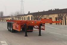 恒通梁山12.5米34.3吨3轴危险品罐箱骨架运输半挂车(CBZ9402TWY)