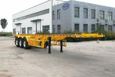 永甲12.2米34.5吨3轴危险品罐箱骨架运输半挂车(MQ9400TWY)