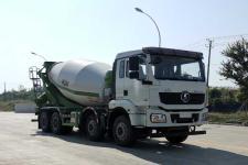 国六陕汽前四后八轻量化10方混凝土搅拌运输车价格