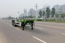 盛润12.4米34.9吨3轴危险品罐箱骨架运输半挂车(SKW9406TWY)