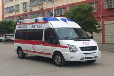 国六福特v348福星顶救护车