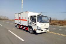 国六解放易燃气体厢式运输车