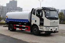 國六解放J6型15方灑水車多少錢一輛