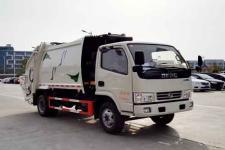 东风小多利卡全柴115马力6方压缩式垃圾车多少钱-垃圾车厂家