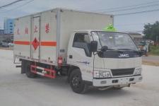 国五江铃4米2易燃气体厢式运输车价格