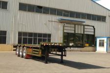 广科12米34.2吨3轴平板运输半挂车(YGK9400TPBA)