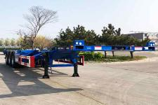 中集12.5米34.5噸3軸危險品罐箱骨架運輸半掛車(ZJV9407TWYQDX)