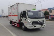 国六福田奥铃4米2蓝牌易燃液体厢式运输车的价格13635739799