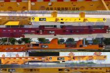 中梁宝华牌YDA9400TWY型危险品罐箱骨架运输半挂车图片