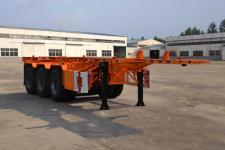 同強9.3米34.5噸3軸危險品罐箱骨架運輸半掛車(LJL9401TWY)