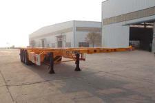 正康宏泰12.3米33.8吨3轴危险品罐箱骨架运输半挂车(HHT9400TWY)
