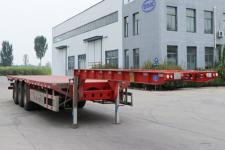 锣响12.8米32.9吨3轴低平板半挂车(LXC9401TDP)