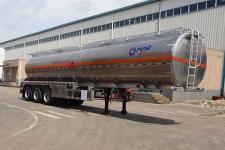 運力12.6米33噸3軸鋁合金易燃液體罐式運輸半掛車(LG9402GRY)