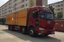前四后八杂项危货厢式车  解放9.6米危险品废料厢式货车