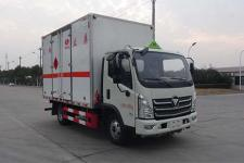 国六福田欧马可HCQ5046XRQBJ6型易燃气体厢式运输车