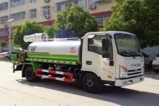 國六大運8方多功能噴霧抑塵灑水車多少錢一輛/廠家在哪