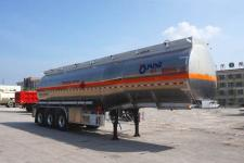 運力11.6米33.2噸3軸鋁合金易燃液體罐式運輸半掛車(LG9404GRY)