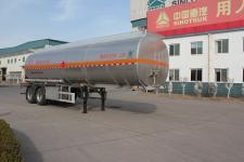 绿叶10.4米29.7吨2轴铝合金运油半挂车(JYJ9351GYY)