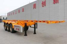 锣响9.3米34.9吨3轴危险品罐箱骨架运输半挂车(LXC9405TWY)