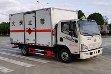 国六小解放易燃液体厢式货车 甲醇厢式货车厂家