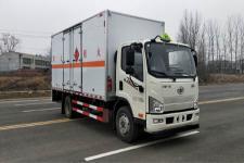 国六解放5米2易燃液体厢式运输车报价13635739799