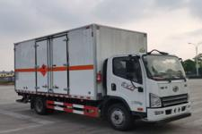 国六小解放易燃液体厢式货车价格 危货厢式车厂家18372241212
