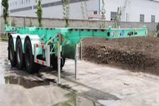 锣响9.1米35吨3轴集装箱运输半挂车(LXC9405TJZ)