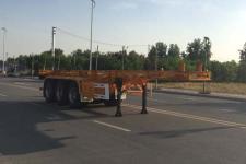 天骏德锦10米34.5吨3轴危险品罐箱骨架运输半挂车(TJV9400TWYJ)