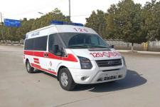 国六江铃福特V348长轴福星顶救护车