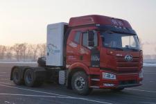 解放牌CA4250P66M25T1A2E6型平头天然气半挂牵引汽车图片