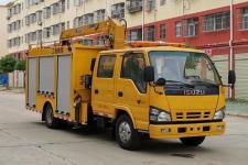 国六五十铃双排座带吊应急救援救险车