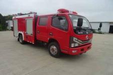 国六东风多利卡双排座水罐消防车