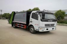 東風8方壓縮式垃圾車全柴發動機報價15671253555