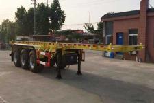 醒獅9.6米35噸3軸危險品罐箱骨架運輸半掛車(SLS9401TWY)