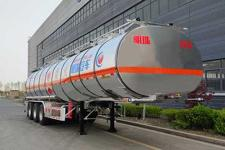 河海明珠11.8米33.7噸3軸鋁合金易燃液體罐式運輸半掛車(MZC9405GRYA)