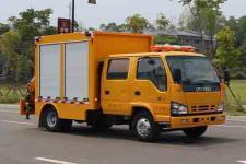 国六五十铃双排座带吊应急工程抢险车