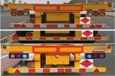中集牌ZJV9402TWYSZ型危险品罐箱骨架运输半挂车图片