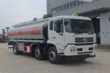 东风天锦小三轴18吨铝合金油罐车运油车多少钱-罐车厂家