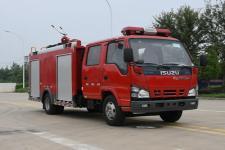 国六五十铃2吨小型泡沫消防车