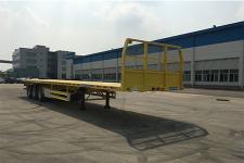 中集13米34.4吨3轴平板半挂车(ZJV9400PBDG)